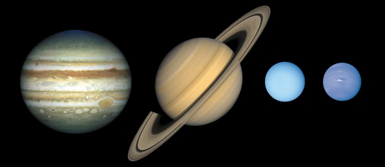 the jovian worlds of jupiter, saturn, uranus, and neptune