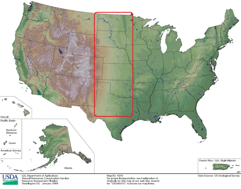 How Geography Shapes US Regional Weather - Us plains map
