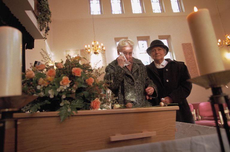 Senior Women at Funeral