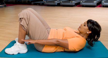 Partial Crunch Pelvic Tilt Exercise