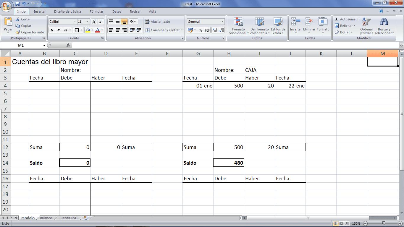 7 acciones de Excel y otras hojas en contabilidad