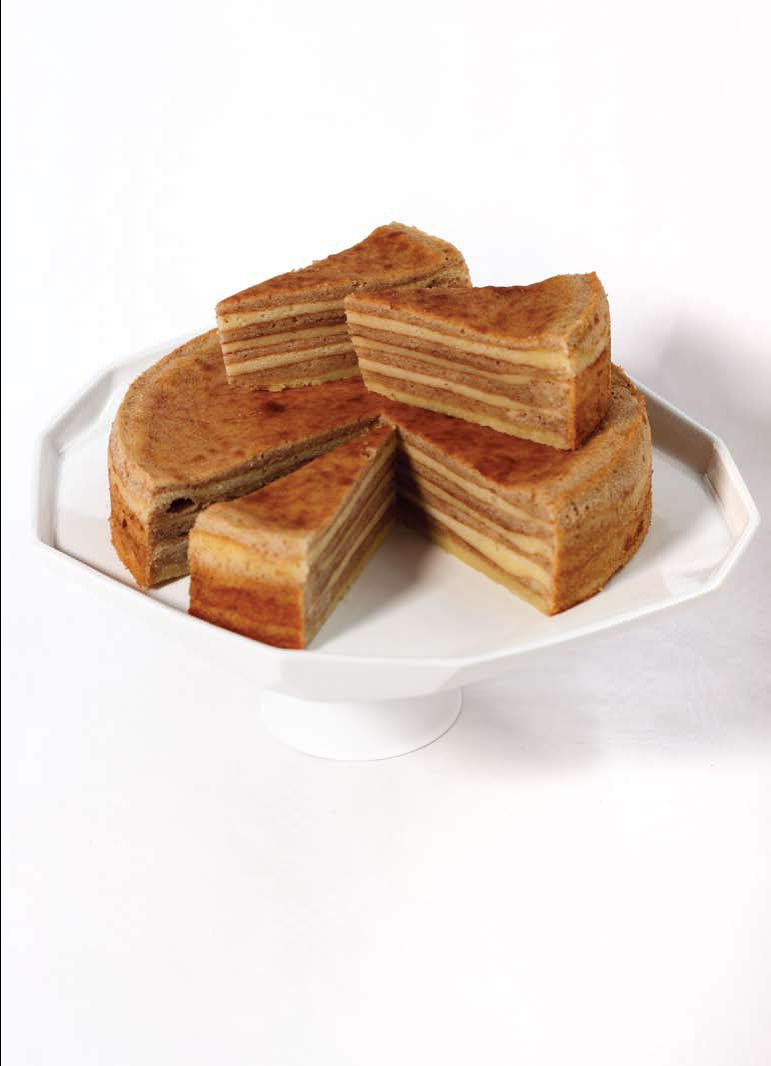Wedges of Indo-Dutch spekkoek