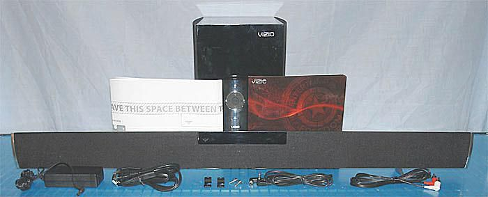 Vizio VHT215 2.1 Channel Home Theater System with Accessories and Documentation