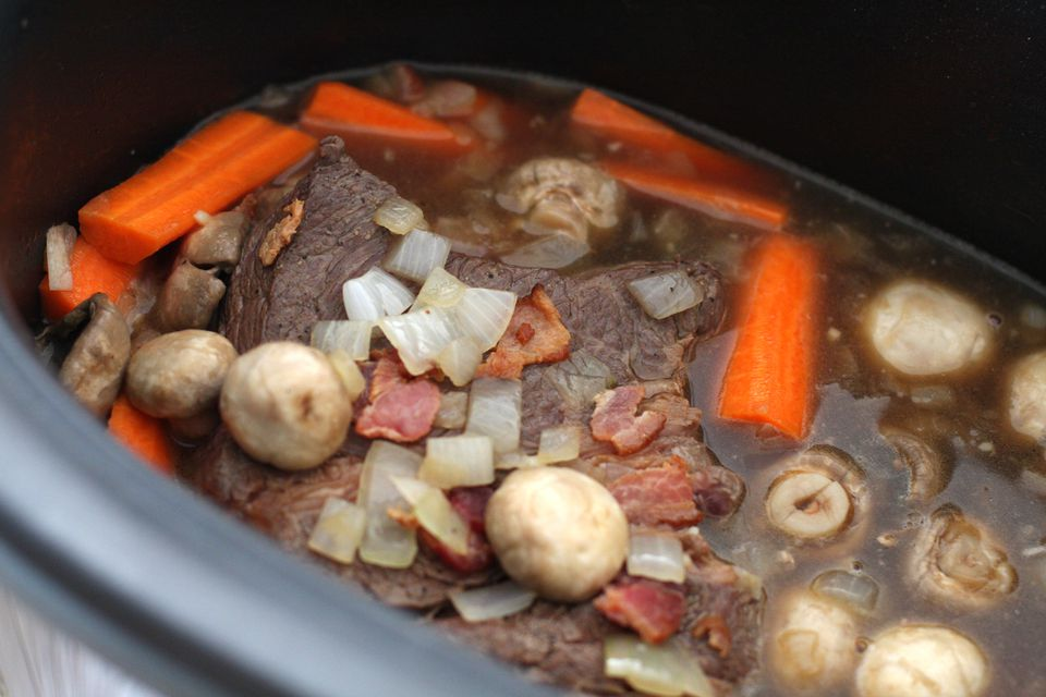 Slow Cooker Pot Roast With Bacon and Beer