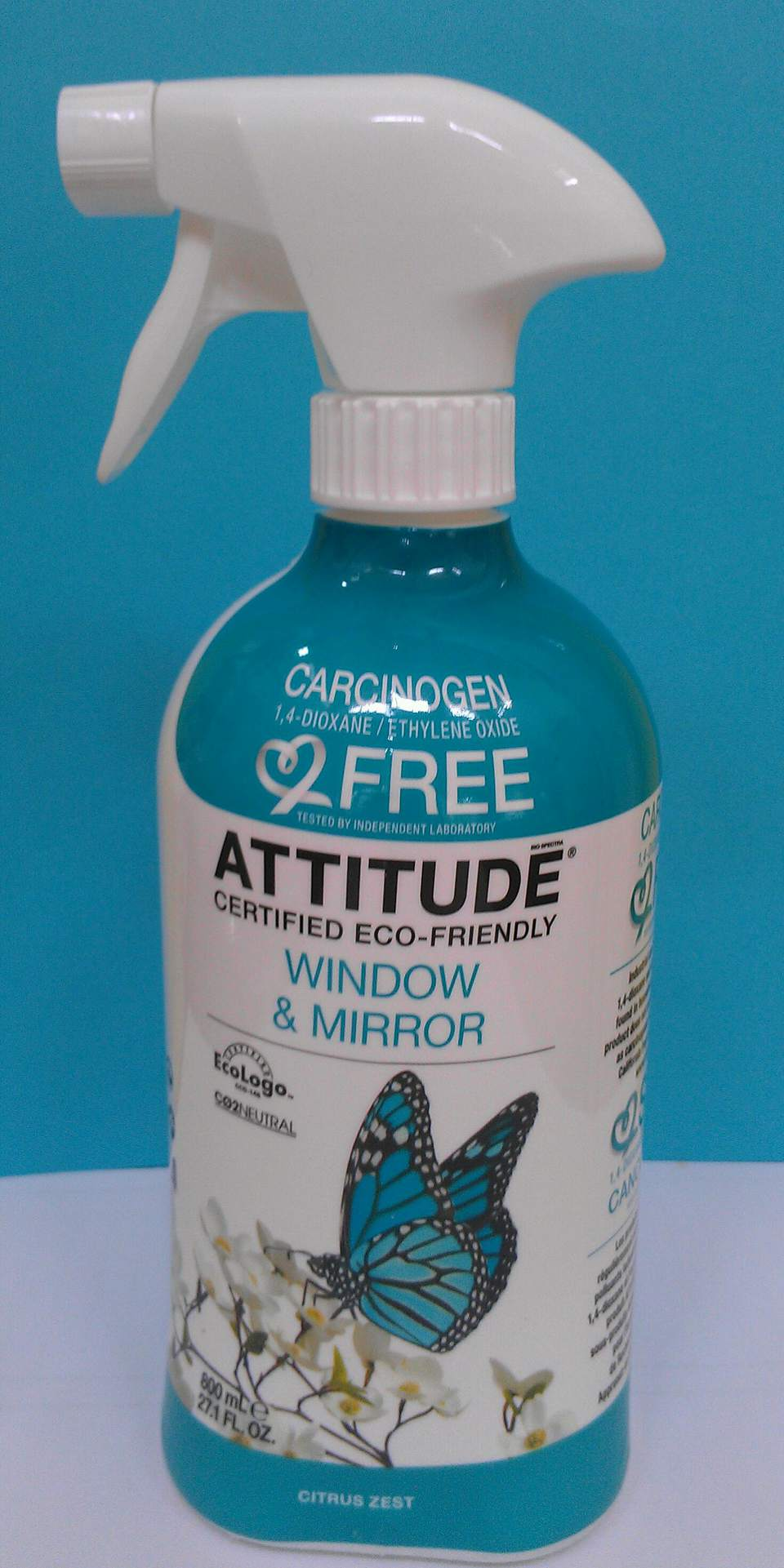 Attitude Window & Mirror Eco-Cleaner, Citrus Zest Scent