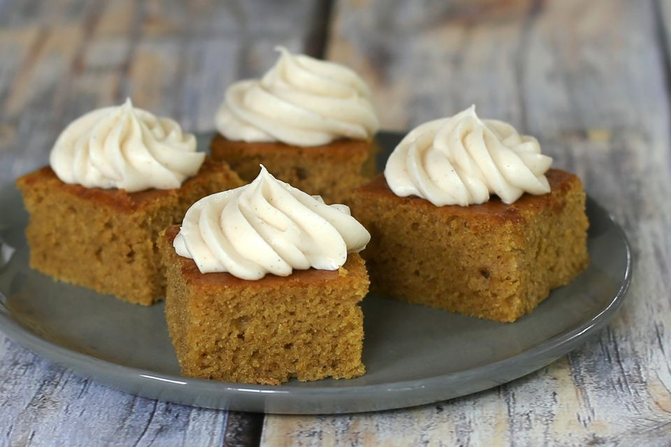 Pumpkin Sheet Cake With Browned Butter Cream Cheese Frosting