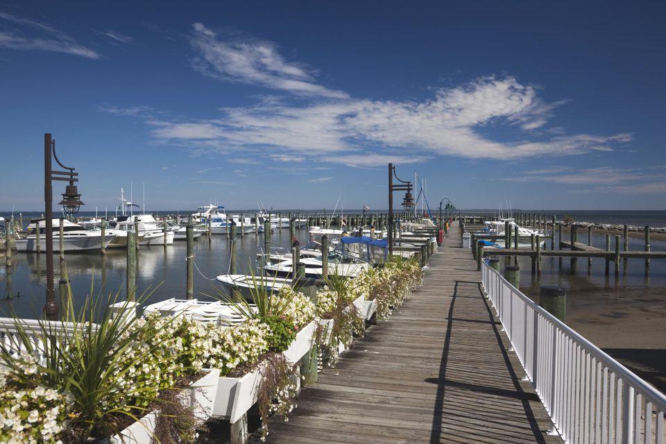 Marina at Chesapeake Beach, Western Shore of Chesapeake Bay, Maryland, USA