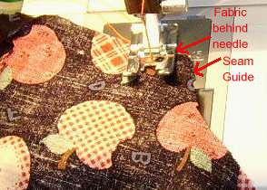 Starting to sew a seam