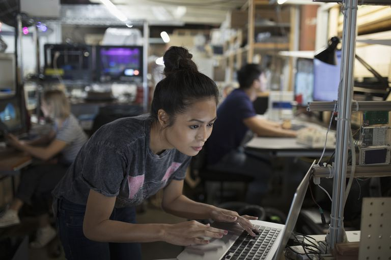 engineer at laptop