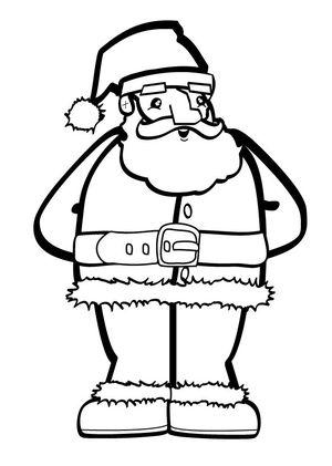 hello kids santa coloring pages - Santa Coloring Pages