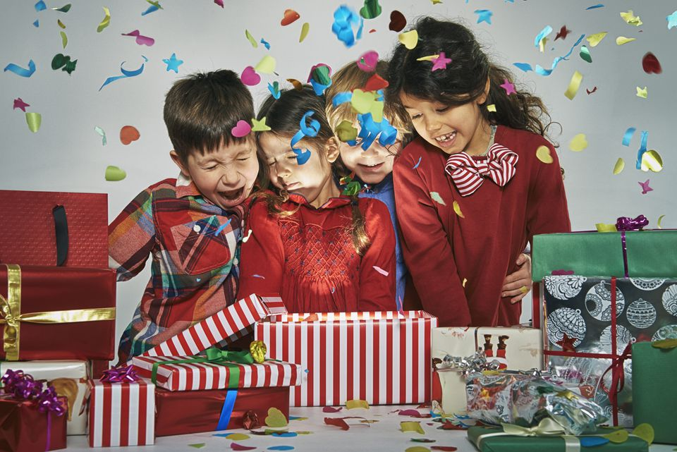 Kids Opening Exploding Christmas Gifts
