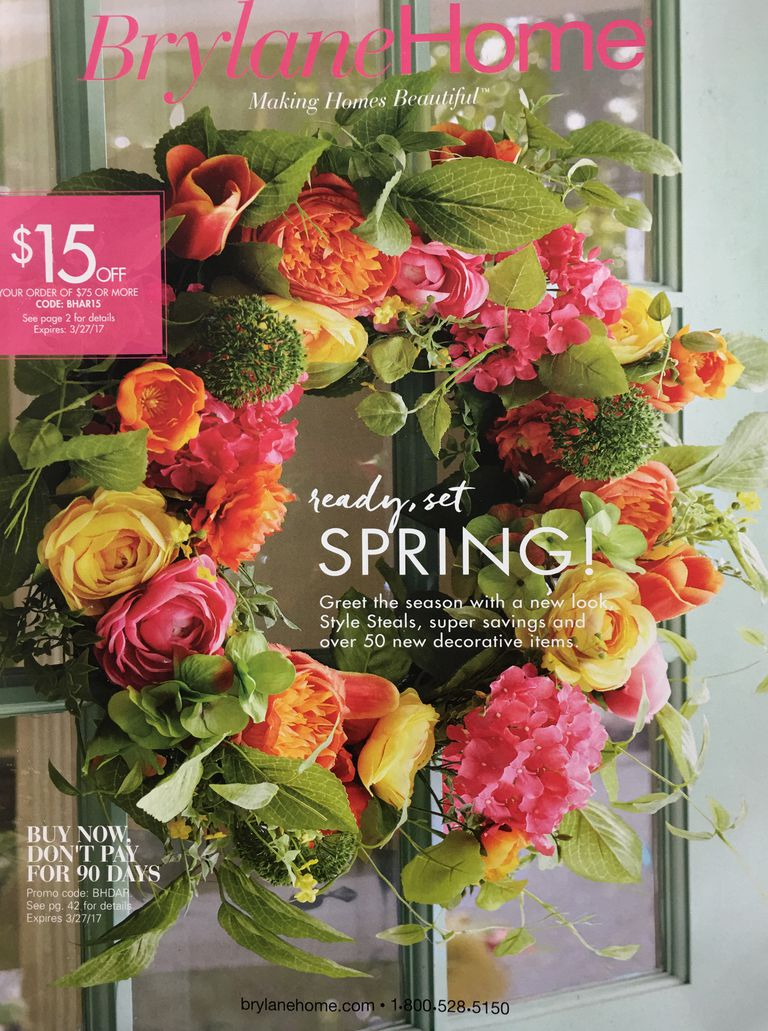30 free home decor catalogs you can get in the mail the cover of the 2017 brylane home catalog