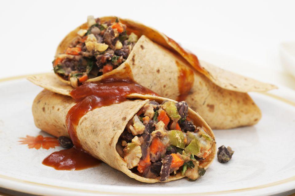 sweet-potato burrito
