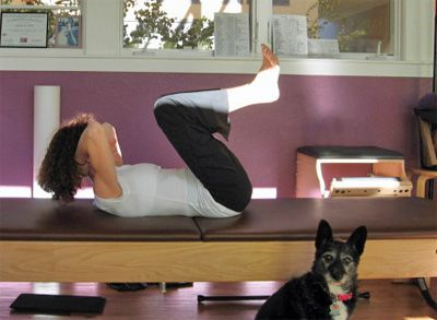 pilates reformer on the mat