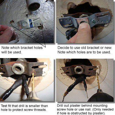 ceiling light fixture mounting bracket - How To Replace A Ceiling Light Fixture