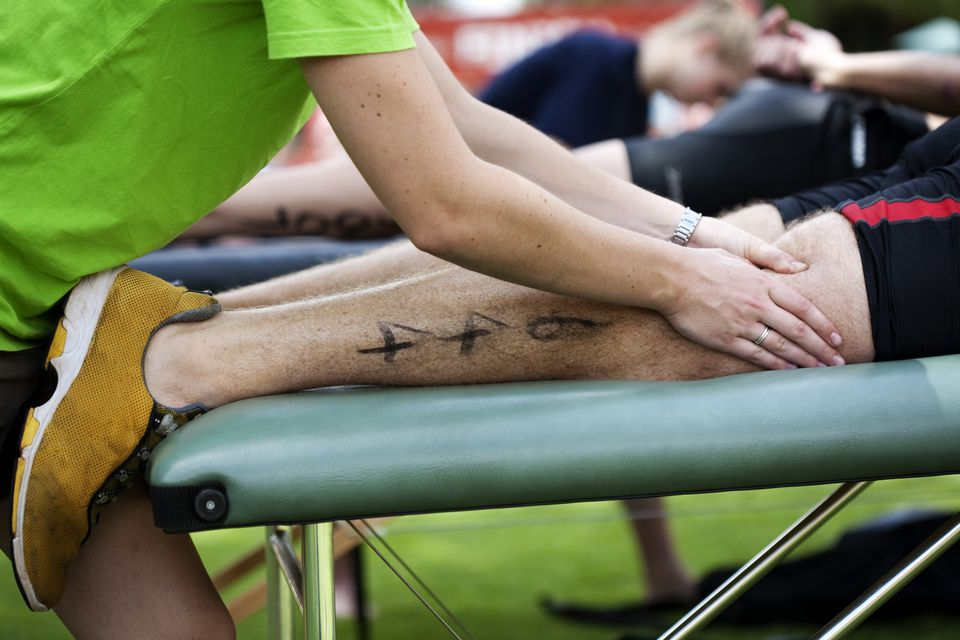 Sports Massage at a race