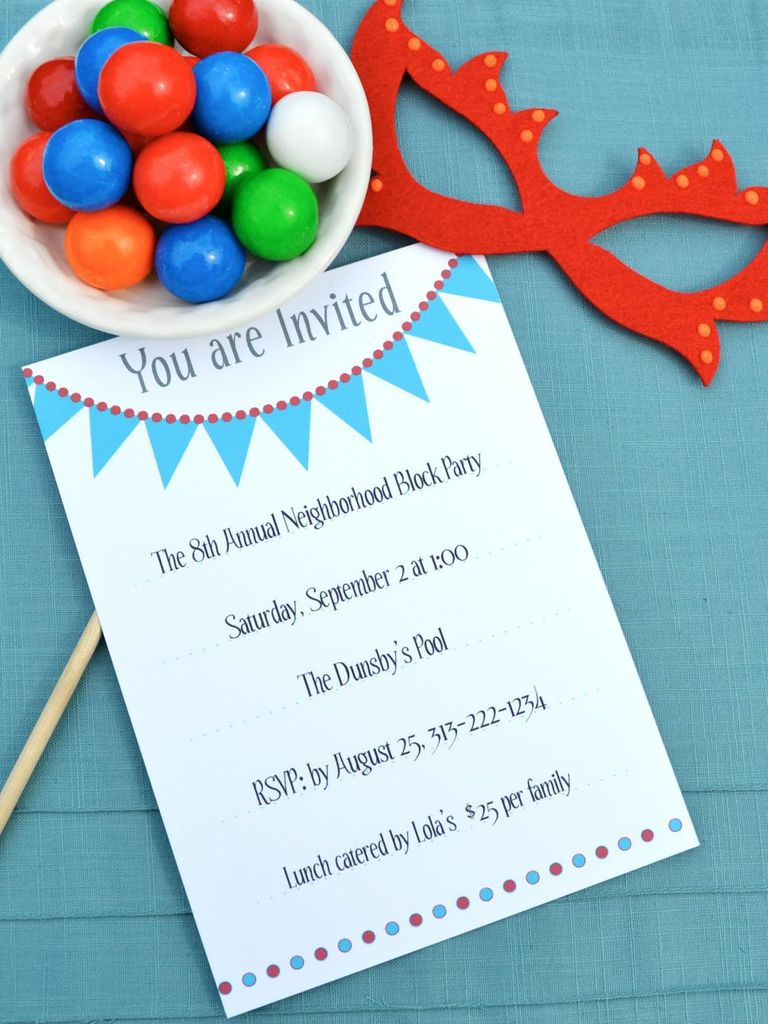 invitations birthday party free printable