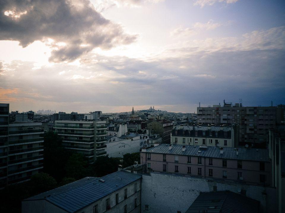 View from le Perchoir, Paris.