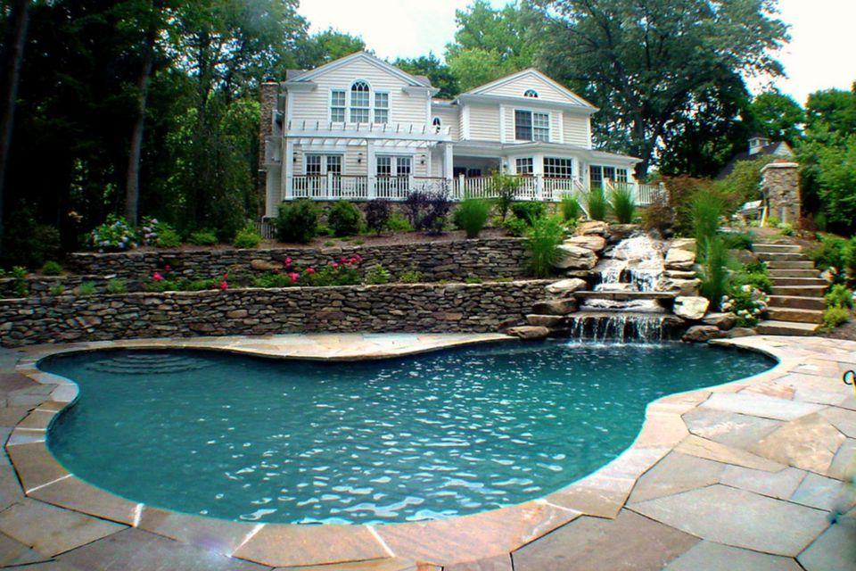 pool waterfalls - Pool Waterfalls