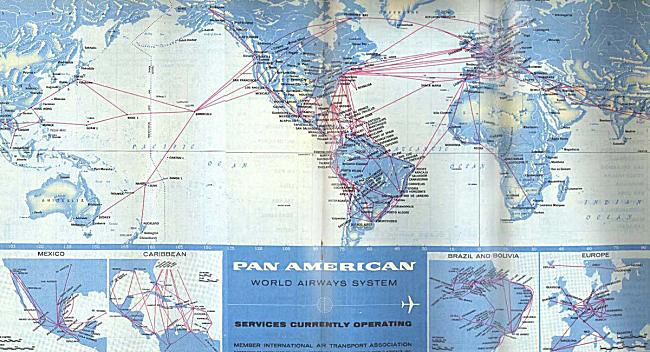 FlashbackFriday Classic Airline Route Maps - Us airways europe route map