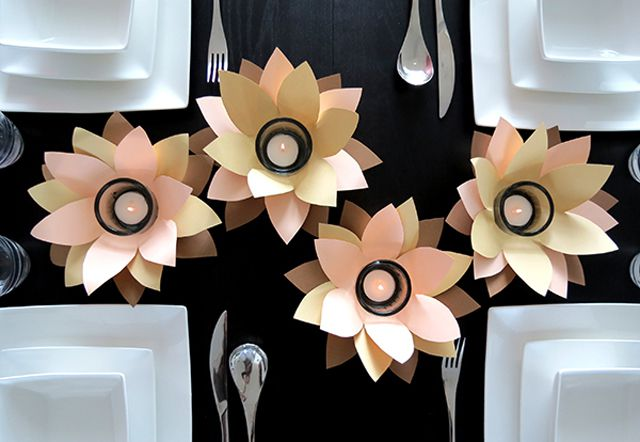 diy votive paper flowers