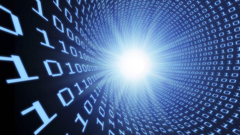 A conceptual image of a data stream