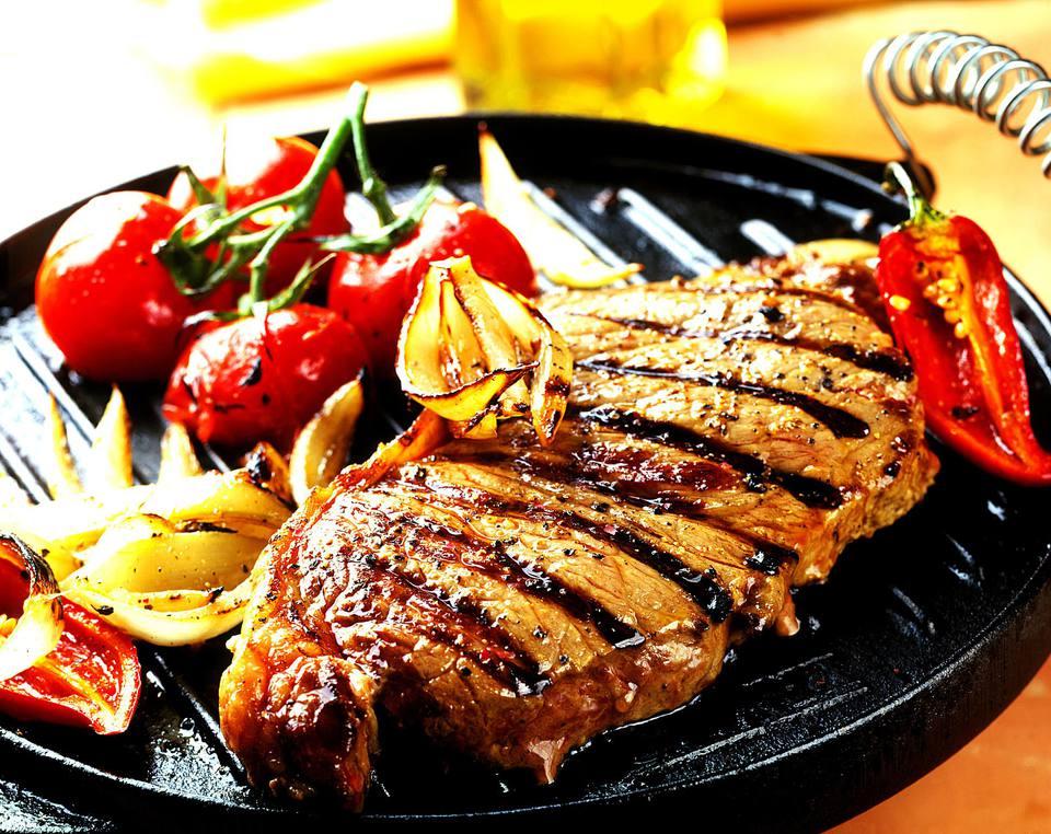 Grilled Elk Steaks