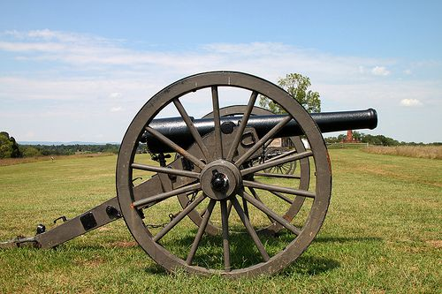 Artillery at Manassas Battlefield Site