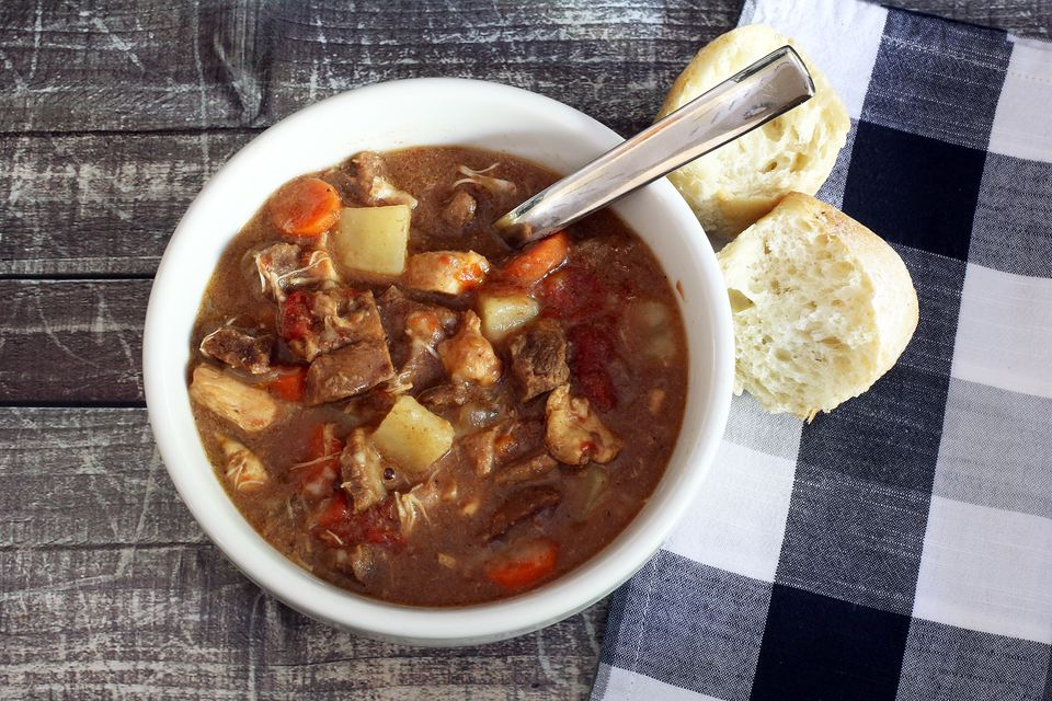 Slow Cooker Beef and Chicken Stew