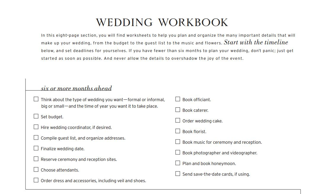 Free Printable Wedding Planning Checklists