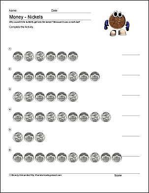 Food Label Worksheet Free Math Worksheets For Counting Pennies Number 5 Worksheets For Preschoolers Word with Words Often Confused Worksheet Pdf Print The Pdf Counting Nickels  Worksheet  And Complete The Activity  Use Your Back Button To Return To This Page And Choose Your Next Printable  Sheet Weather And Clothes Worksheet Pdf