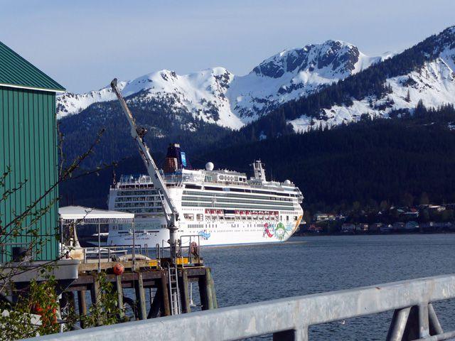 Norwegian Pearl Docked in Juneau