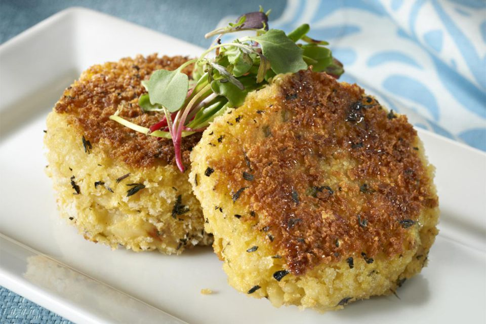 Pan fried Risotto Cakes