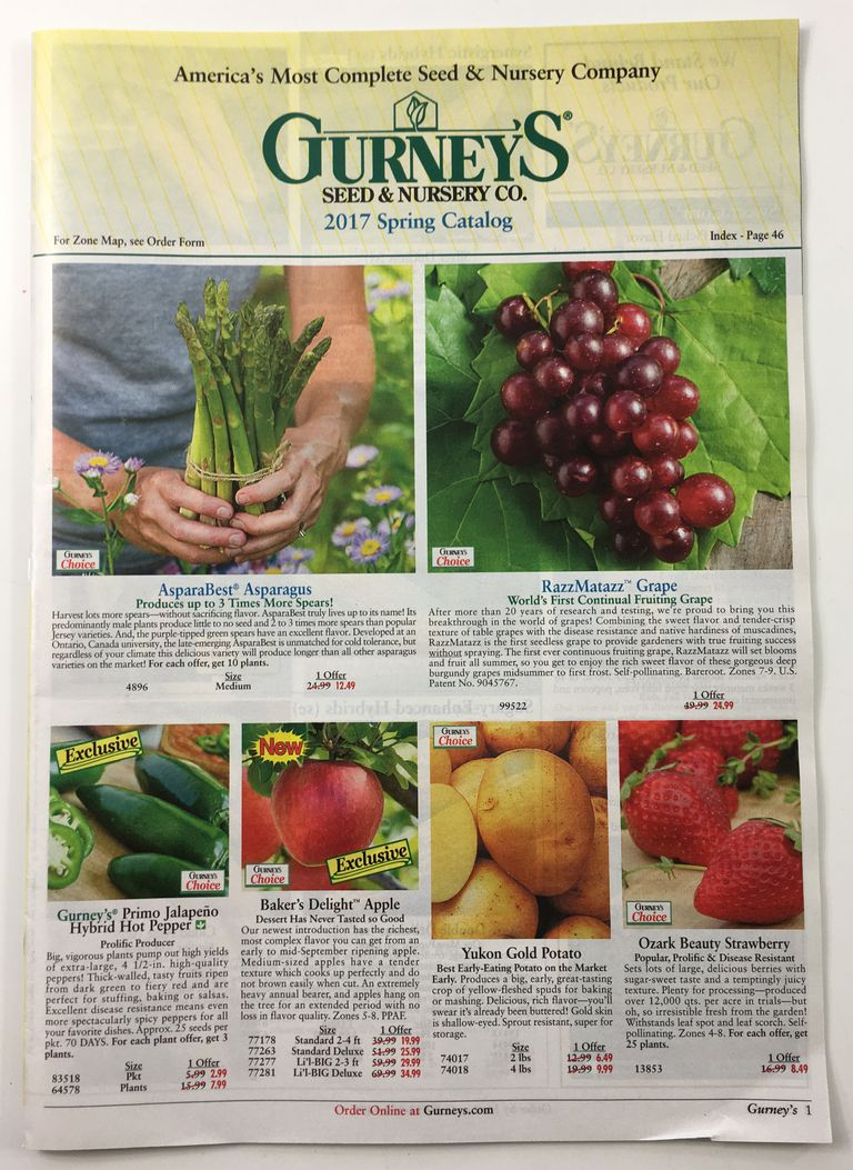 The cover of the 2017 Gurney's seed catalog
