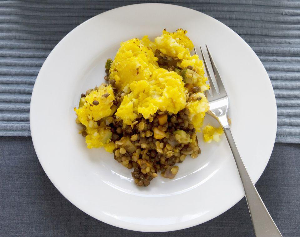 Vegetarian lentil shepherd's pie