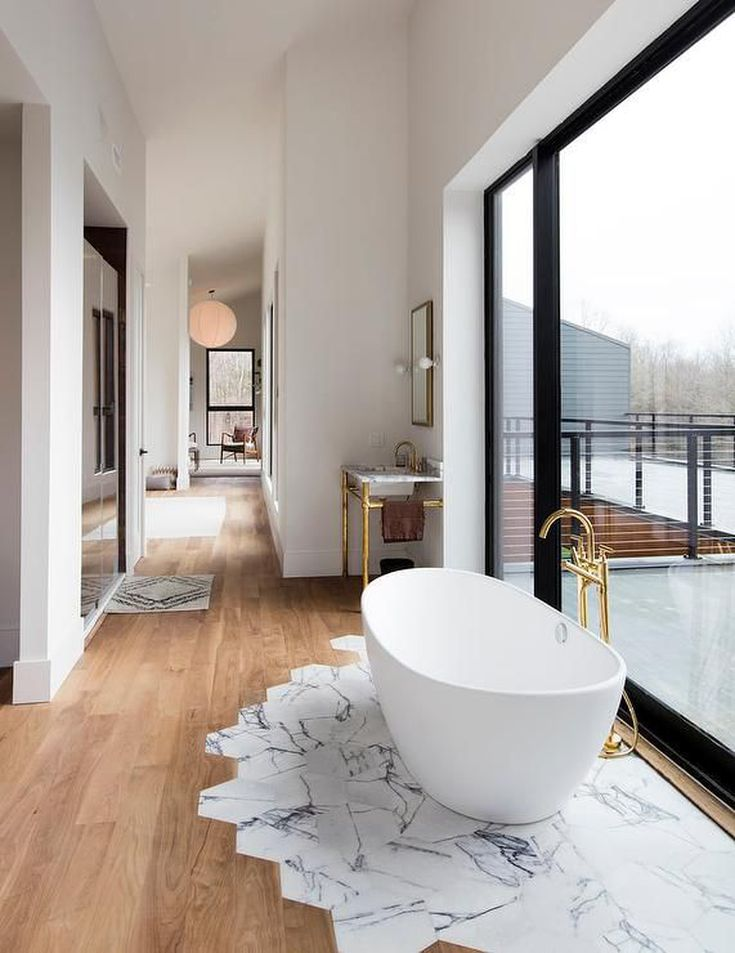 15 Wood Bathroom Floors That Wow