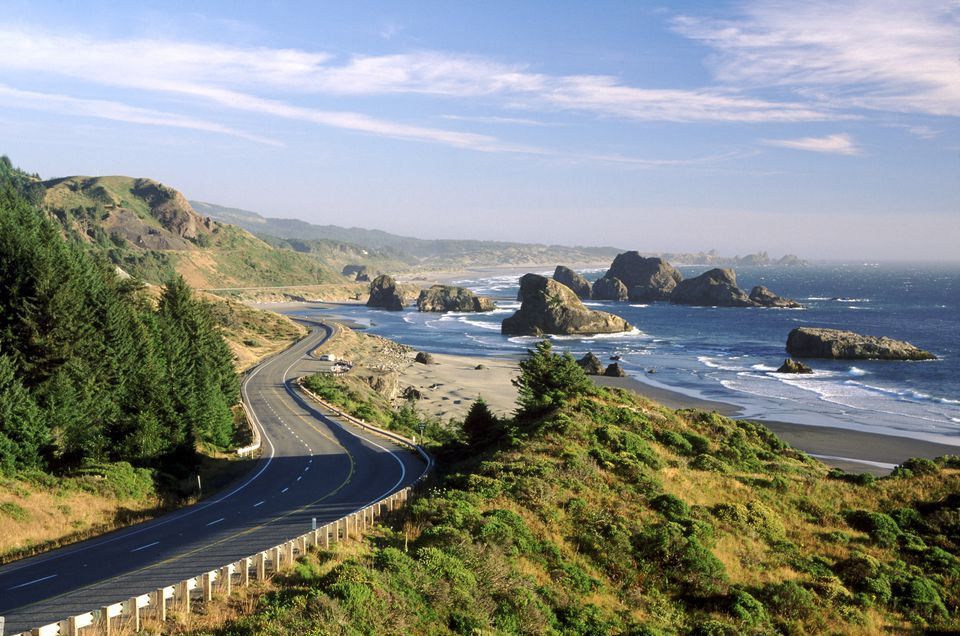 Oregon coastline of Cape Sebastian State Park