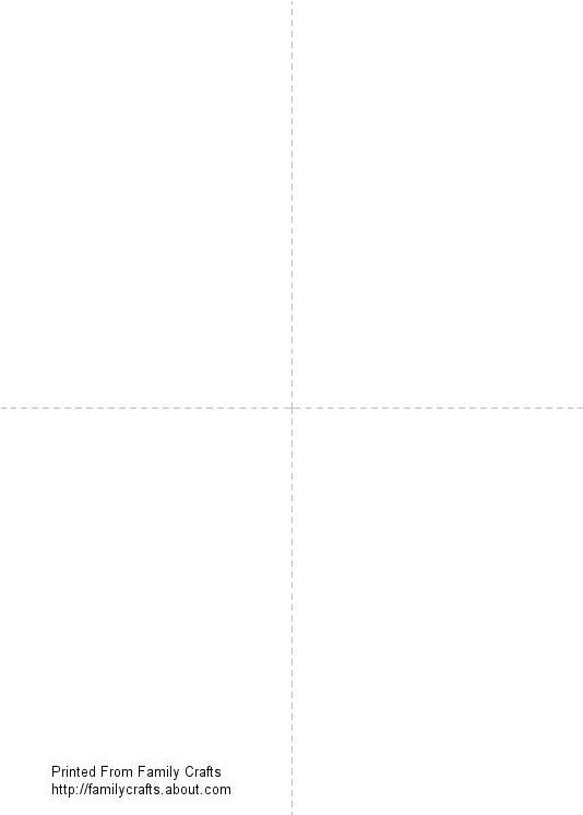 Blank Printable Card Template