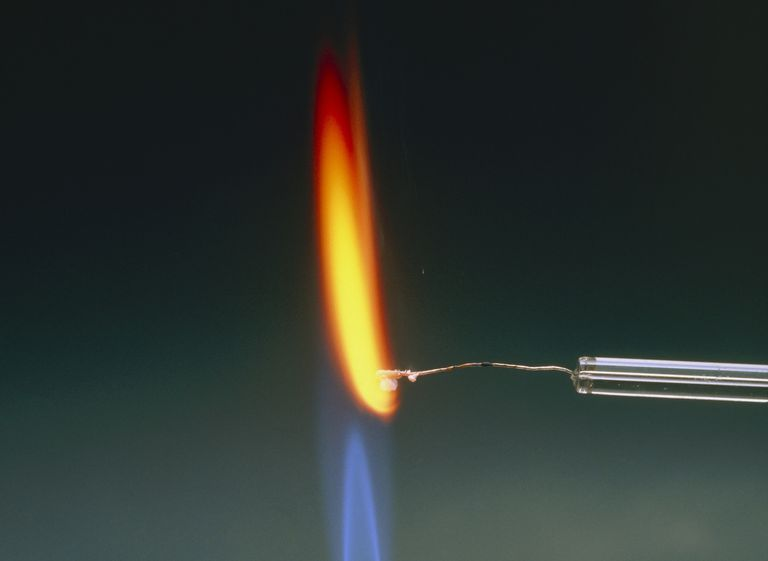 Performing a sodium flame test