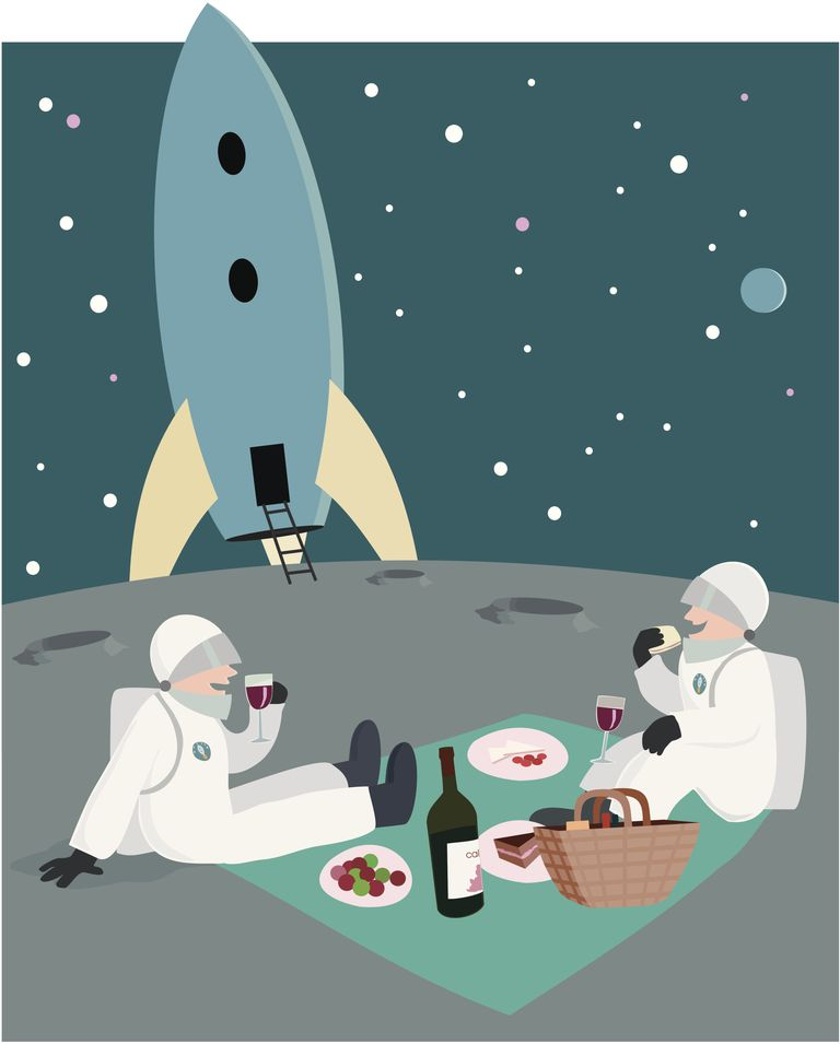 If you were to somehow have a picnic in space, your drink would vaporize and then freeze into tiny crystals.
