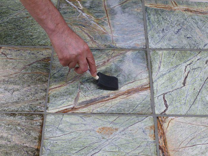 sealing a marble floor
