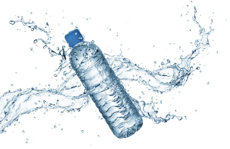 A bottle of heavy water would sink in regular water.