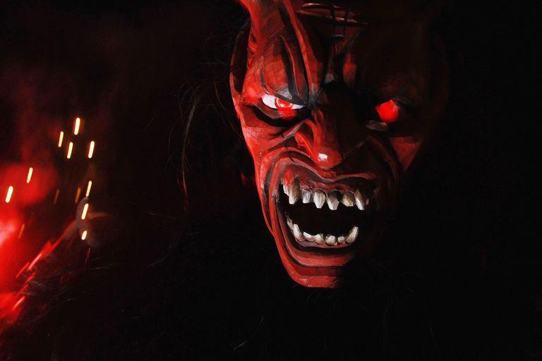 Devils Parade In Krampus Procession