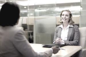woman job interview