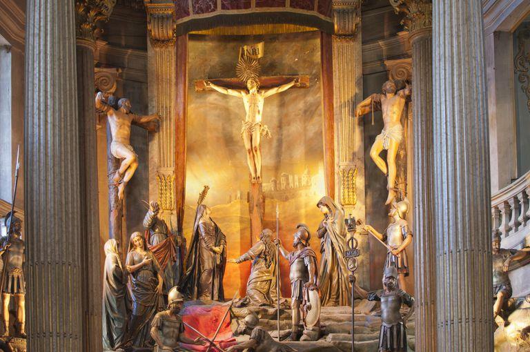 Religious staues, Bom Jesus do Monte sanctuary