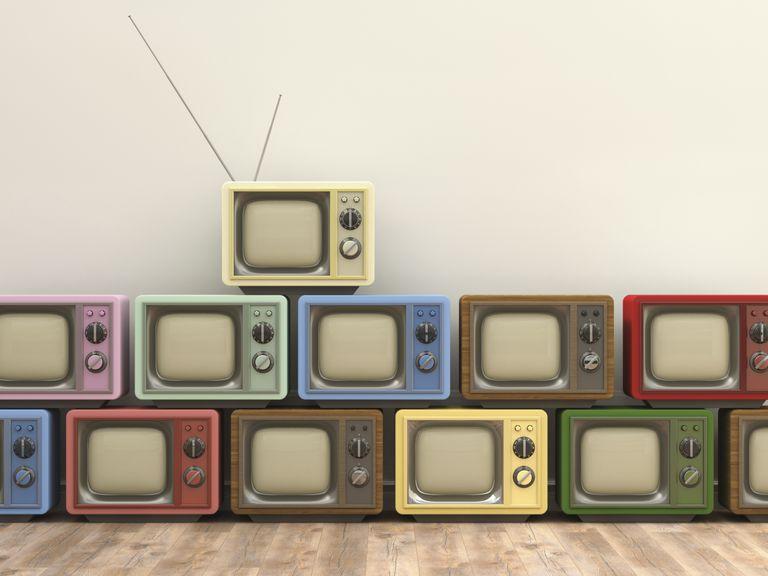 3D Rendering, old tv sets
