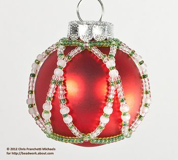 Beaded Victorian Christmas Ornament Cover Pattern
