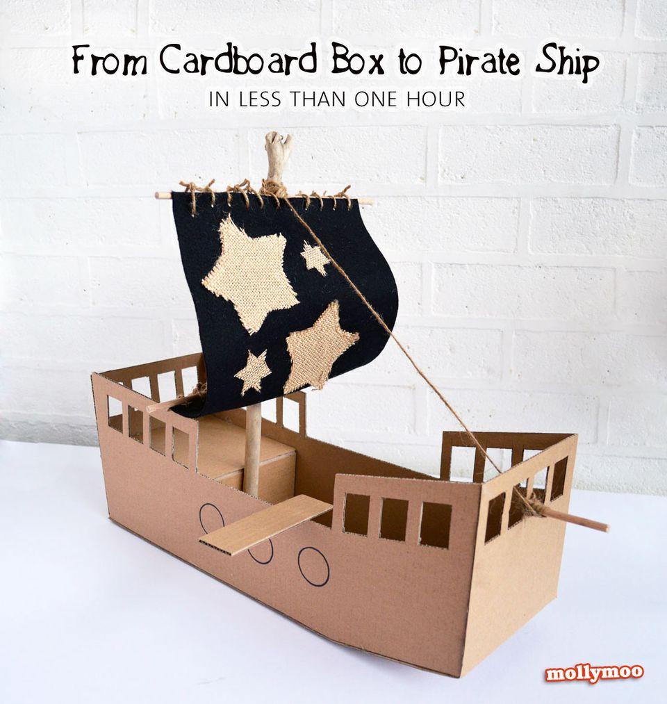Как сделать корабль картона своими руками