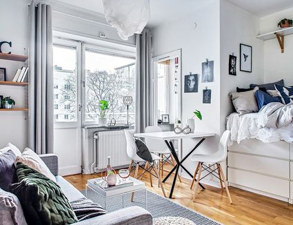 12 Perfect Studio Apartment Layouts That Work 24 Decorating Solutions For Empty Corners