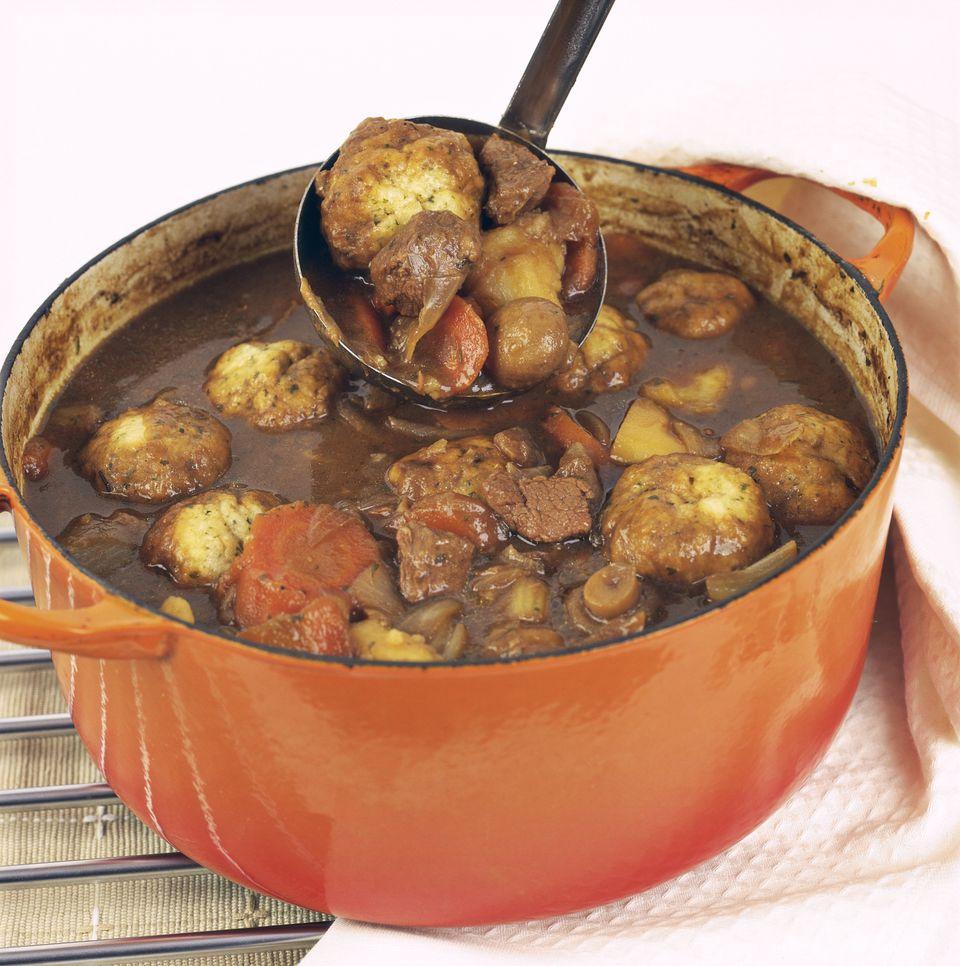 Crockpot Beef Stew With Herb Dumplings Recipe
